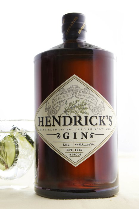 Hendricks Gin bottle photography
