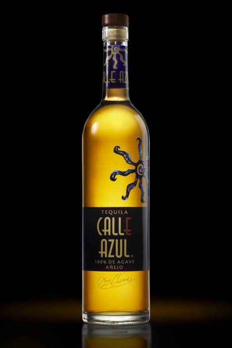 Calle Azul glowing bottle