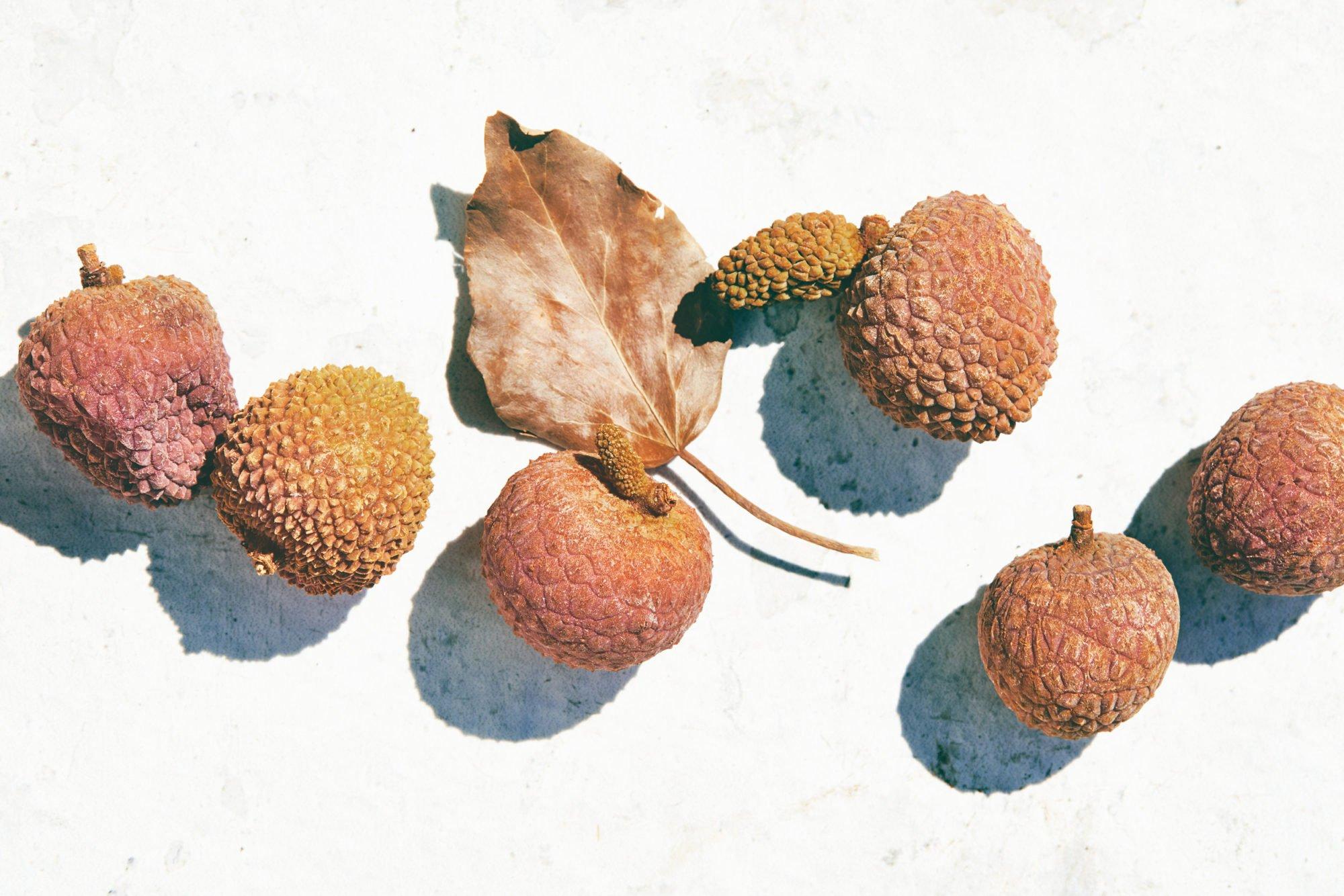 Anna Jones Lychee fruit on marble raw food