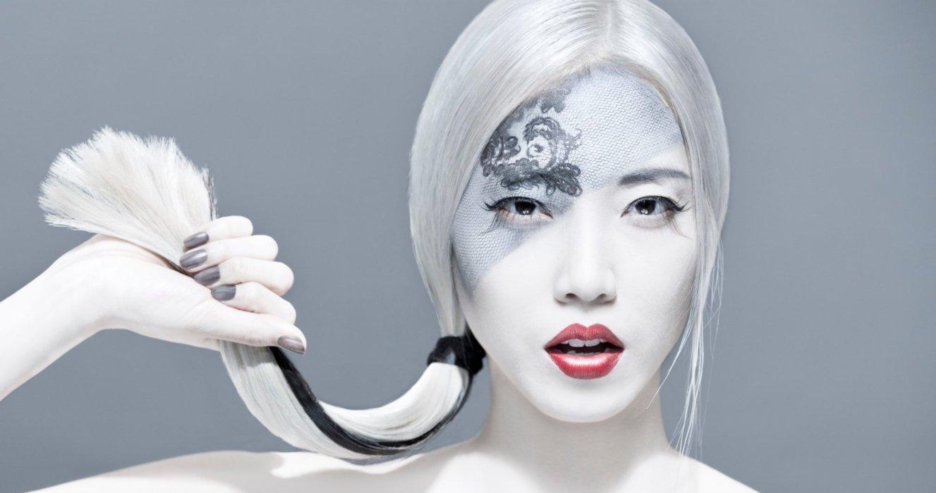 beauty shot of intense make up and hair