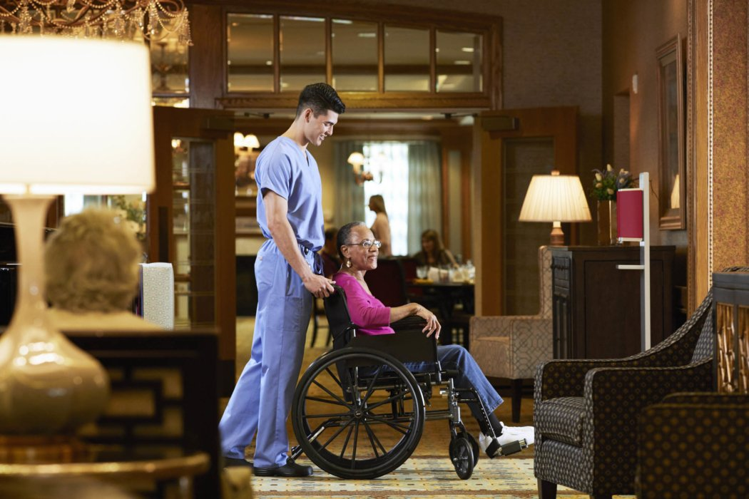 A ground of people in an assisted living health care facility | Healthcare Photographer
