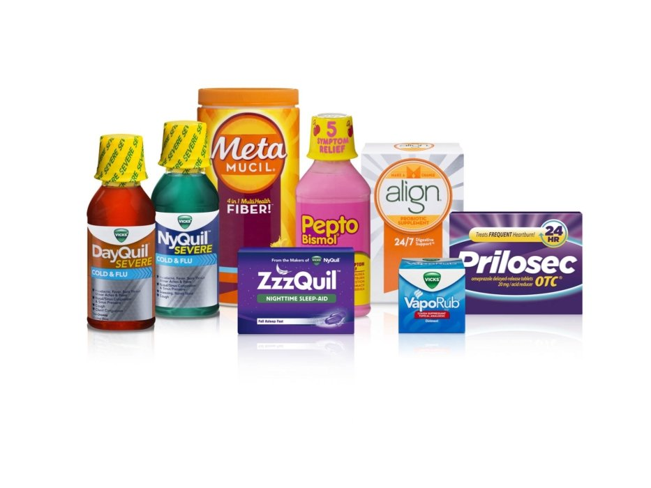 A product family shot of NyQuil