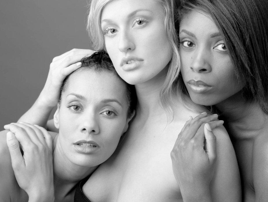 a beauty shot of three women