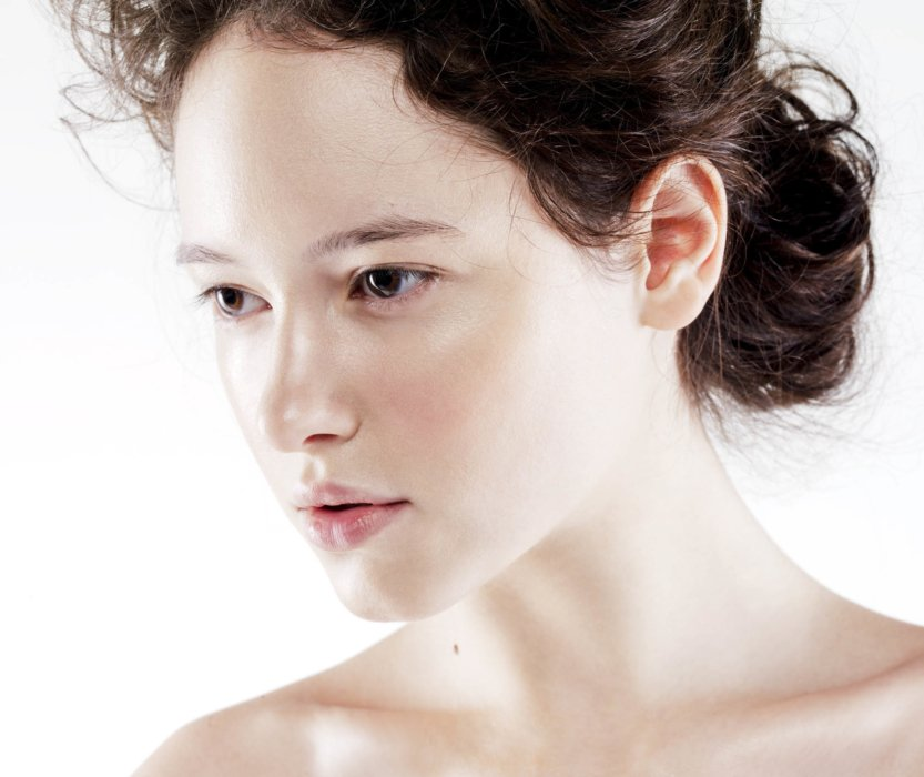 beauty shot of a woman with great skin