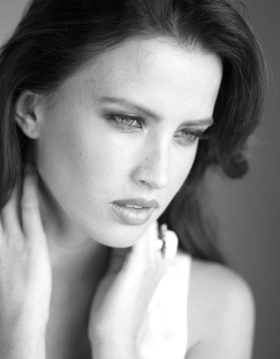 Black and white beauty fashion model