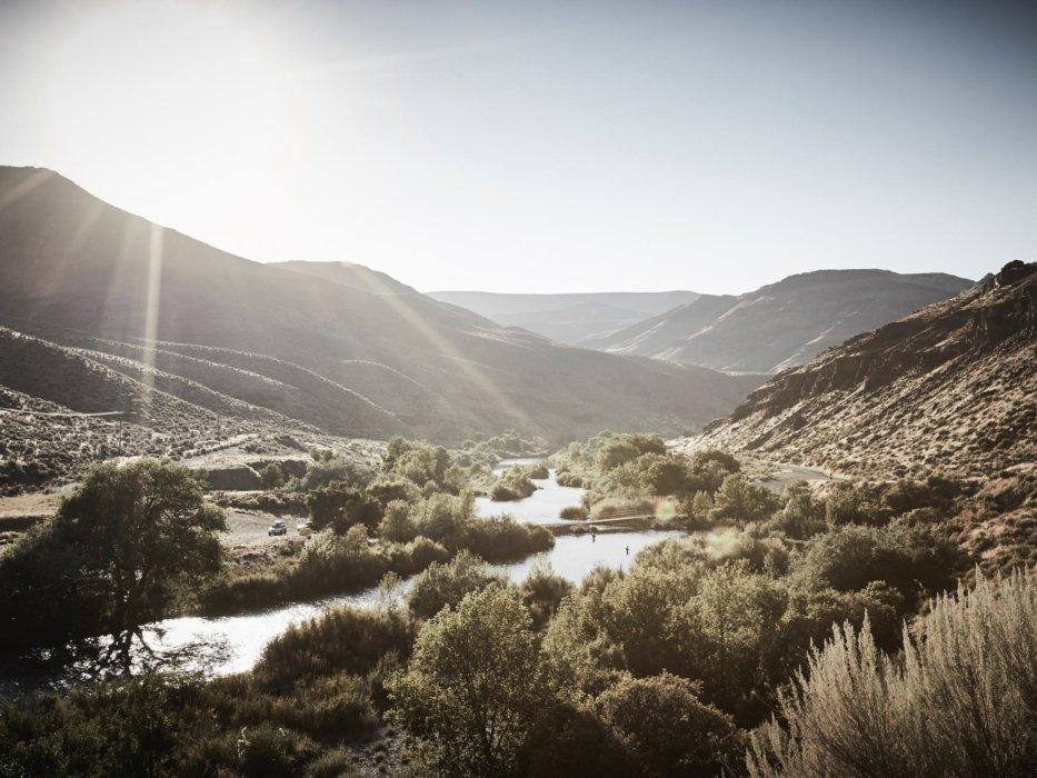 The landscape of a beautiful Idaho river