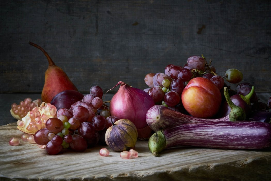 Red fruits and vegetables fine art photography