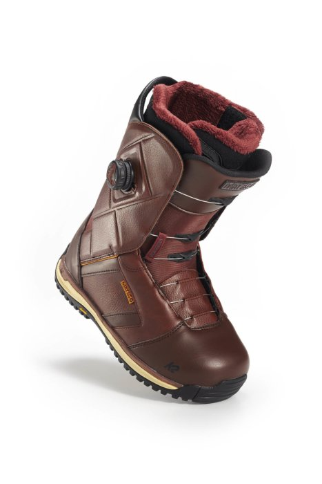 A ski boot on a white background