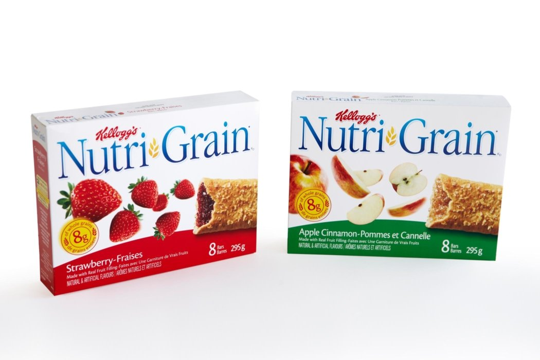 Nutri Grain Bars and ingredients for kellogg's