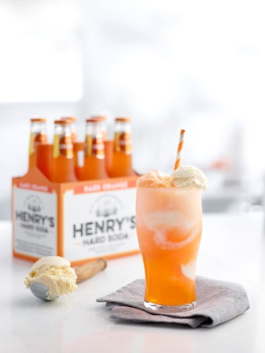 Henry's Sweet Treat orange cream soda ice cream float