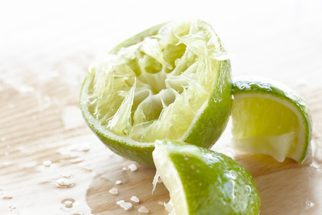 Raw squeezed limes