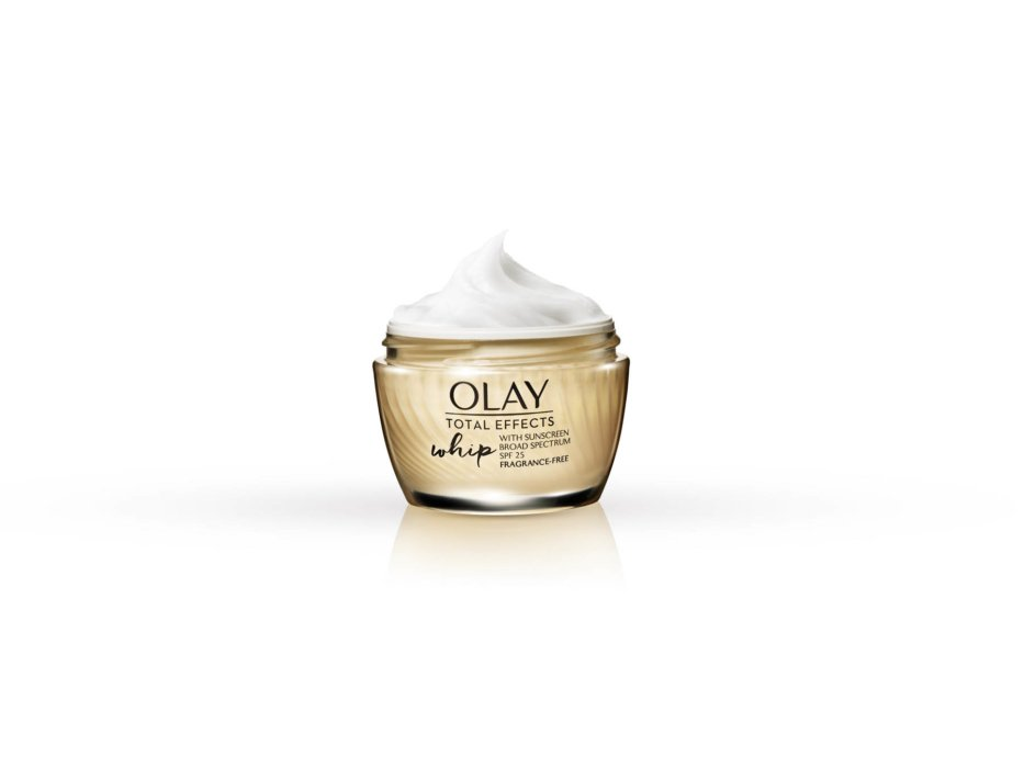 Olay whip product on white - product photography