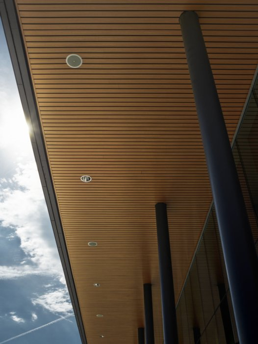 Exterior architectural of outside overhang