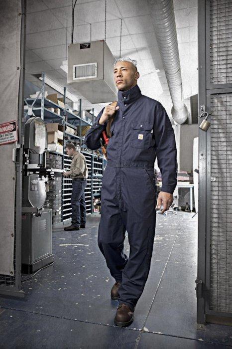 Industrial worker walking