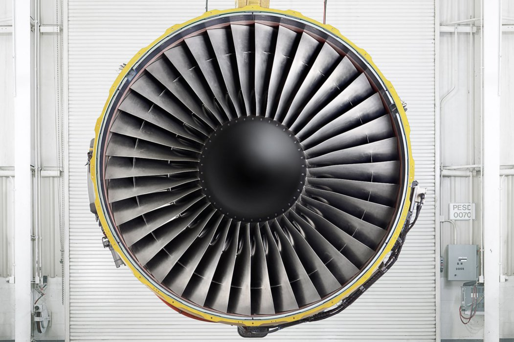 Industrial airplane turbine construction