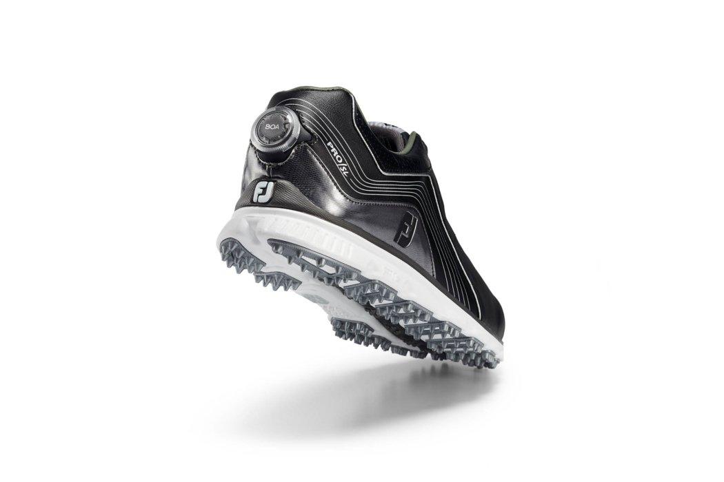black elevated BOA shoe for ecommerce rear