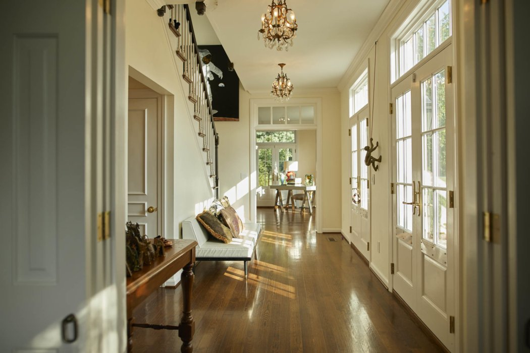 Interior architecture inside classic home entryway