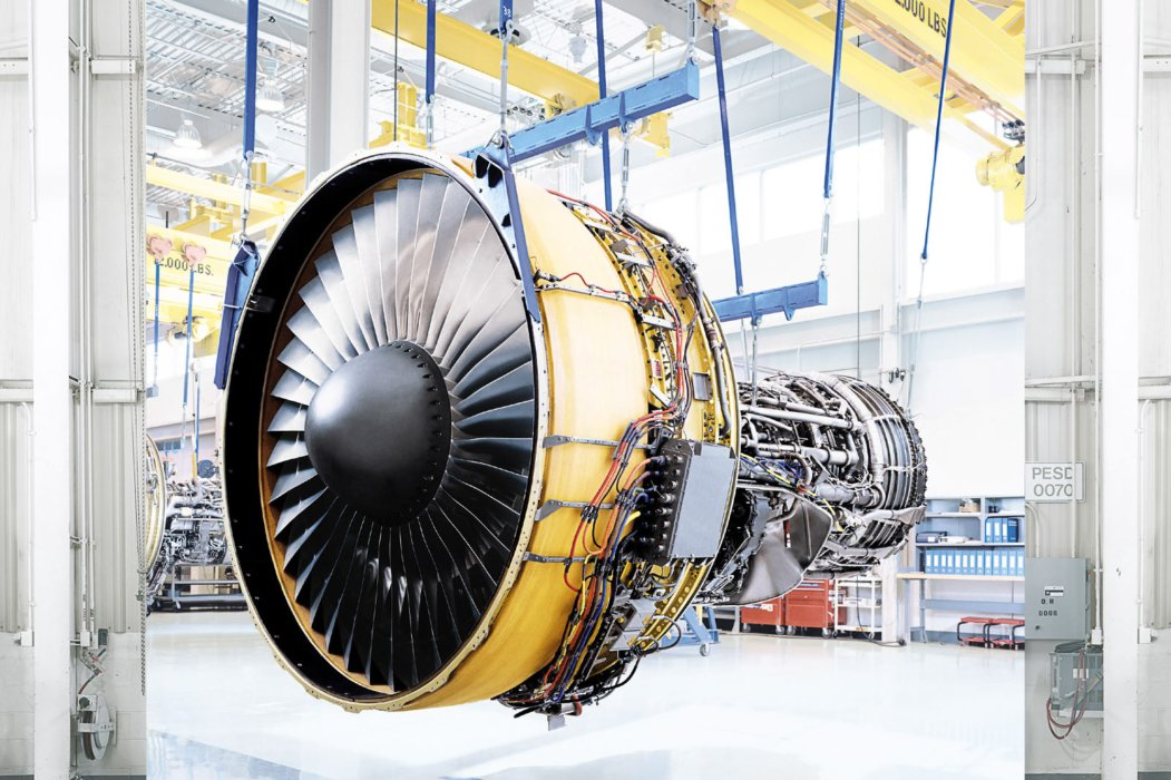 GE Aviation turbine front facing