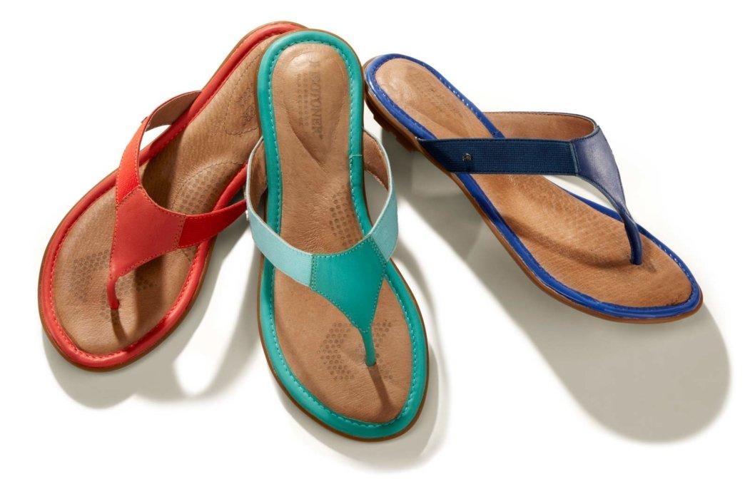 Totes Isotoner three sandals
