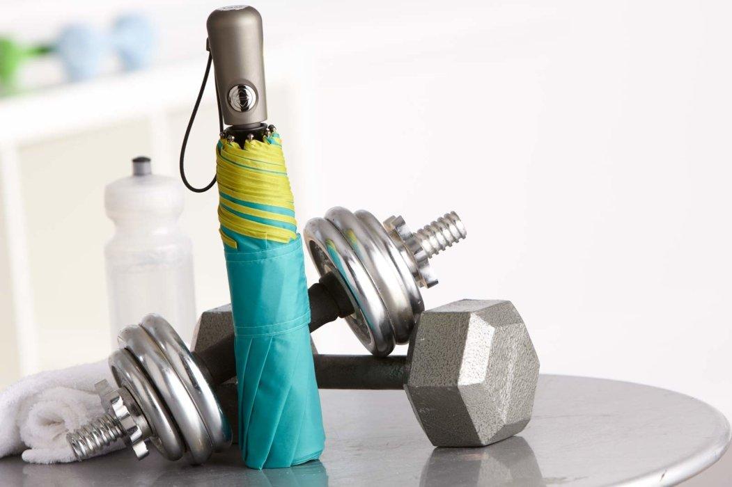 Totes Isotoner umbrella and weights