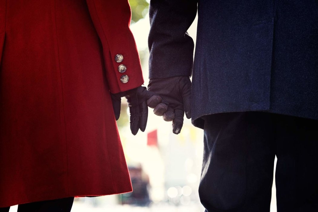 Totes Isotoner couple with gloves and jacket