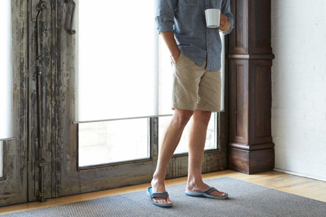 Totes Isotoner man wearing sandals