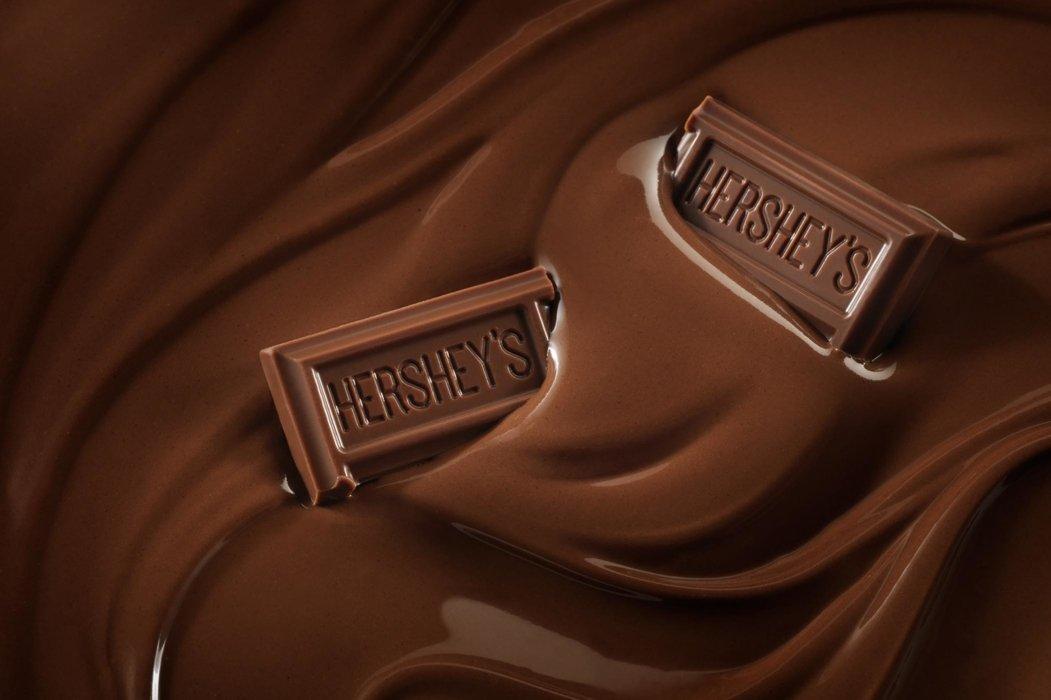 Splash and mix of Hershey's chocolate