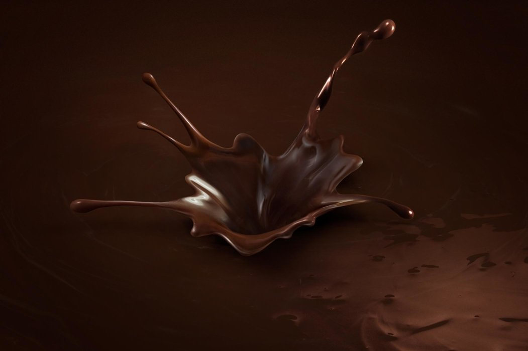 Splashing chocolate sauce - Splash Photography