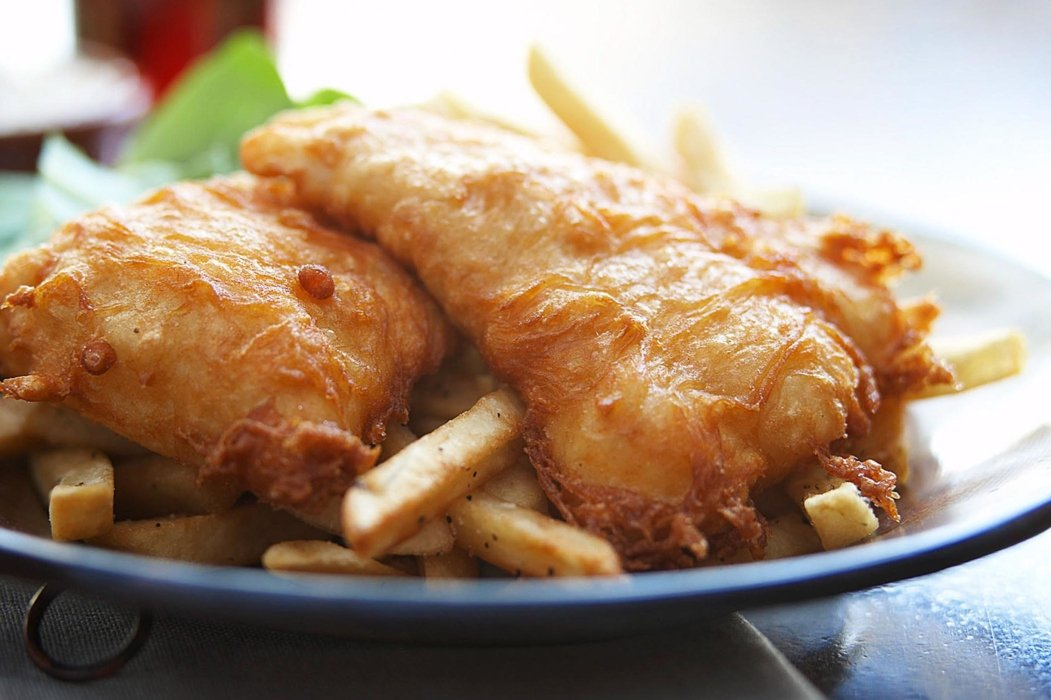 Fried fish and fries or chips