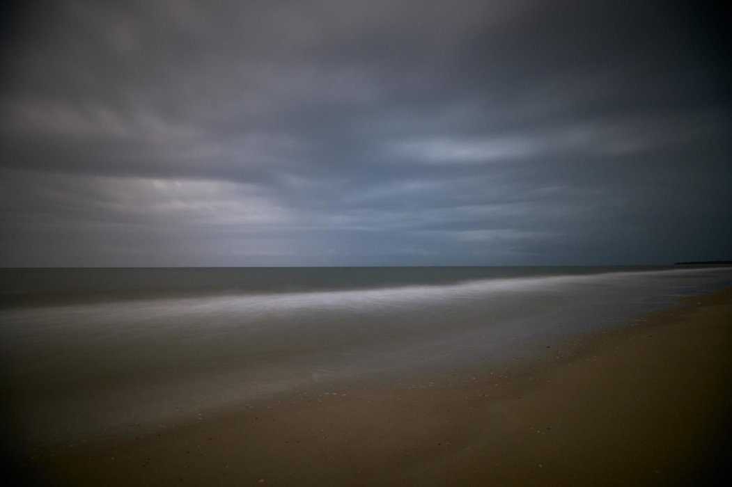 Dark stormy beach