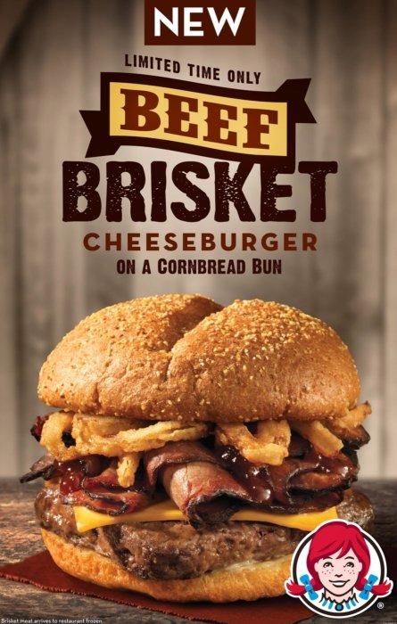 Beef brisket cheeseburger advertising