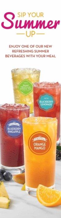 Multiple fruit drink promotion
