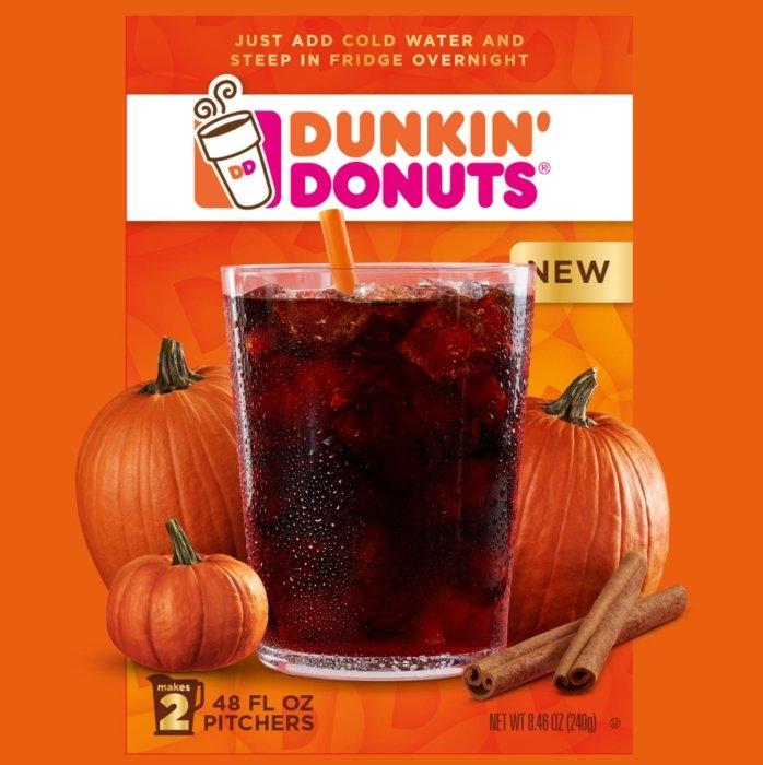Dunkin' Donuts pumpkin coffee drink