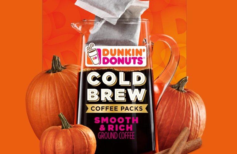 Dunkin' Donuts pumpkin coffee cold brew drink