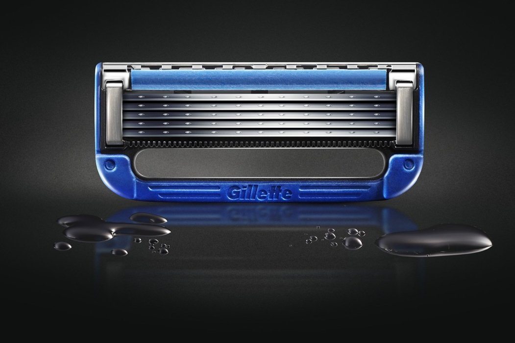 Gillette razor After photo retouching Image