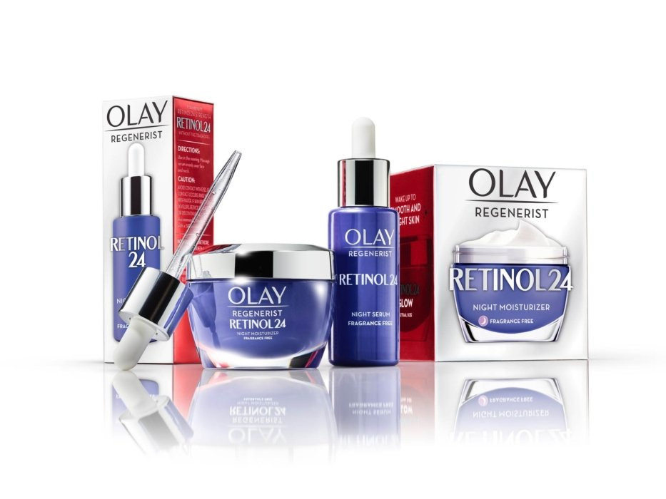 Retinol 24 group of Olay products
