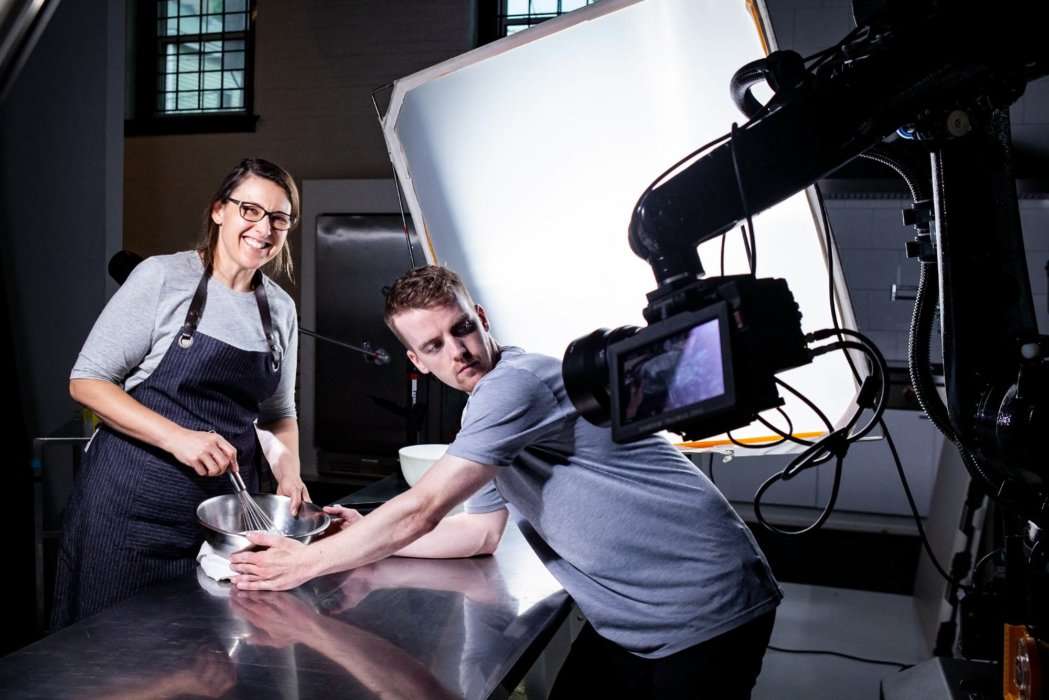 Videographer Jake Anderson and Food Sylist Jen Strauss on Video Shoot with Ice Cream BTS 2