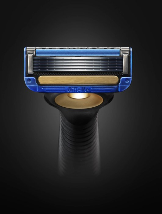A high resolution shot of a Gillette rasor head