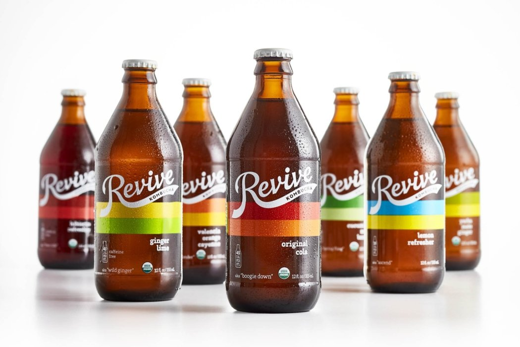 Drink Photography - Product family of Revive Kombucha