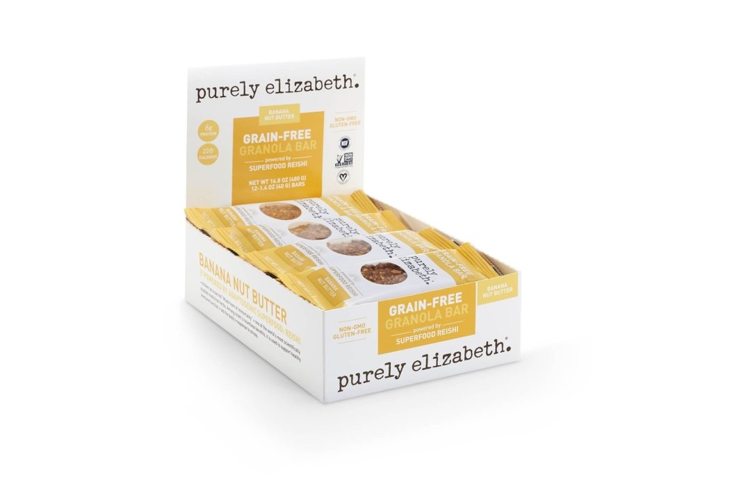 Product photography - purely elizabeth in store display with granola bars