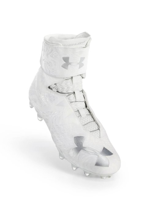 White under armor shoe with BOA fit system