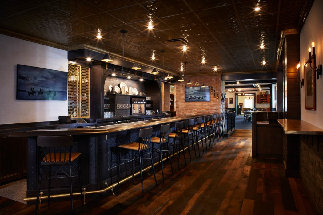 interior bar with lighting architecture photography
