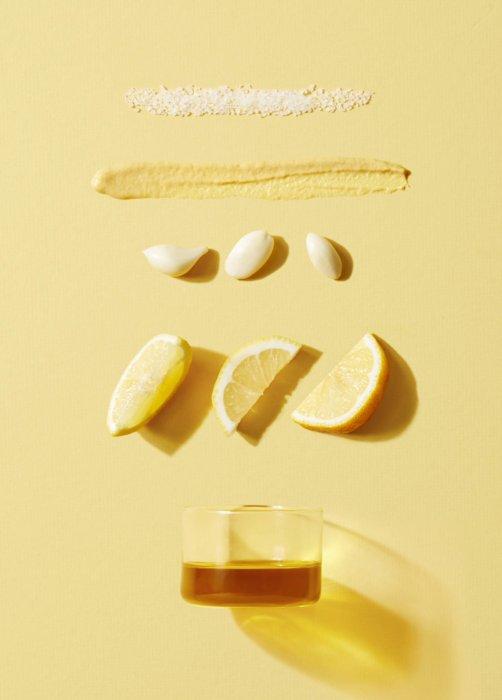 Salad dressing mix with lemons - food photography