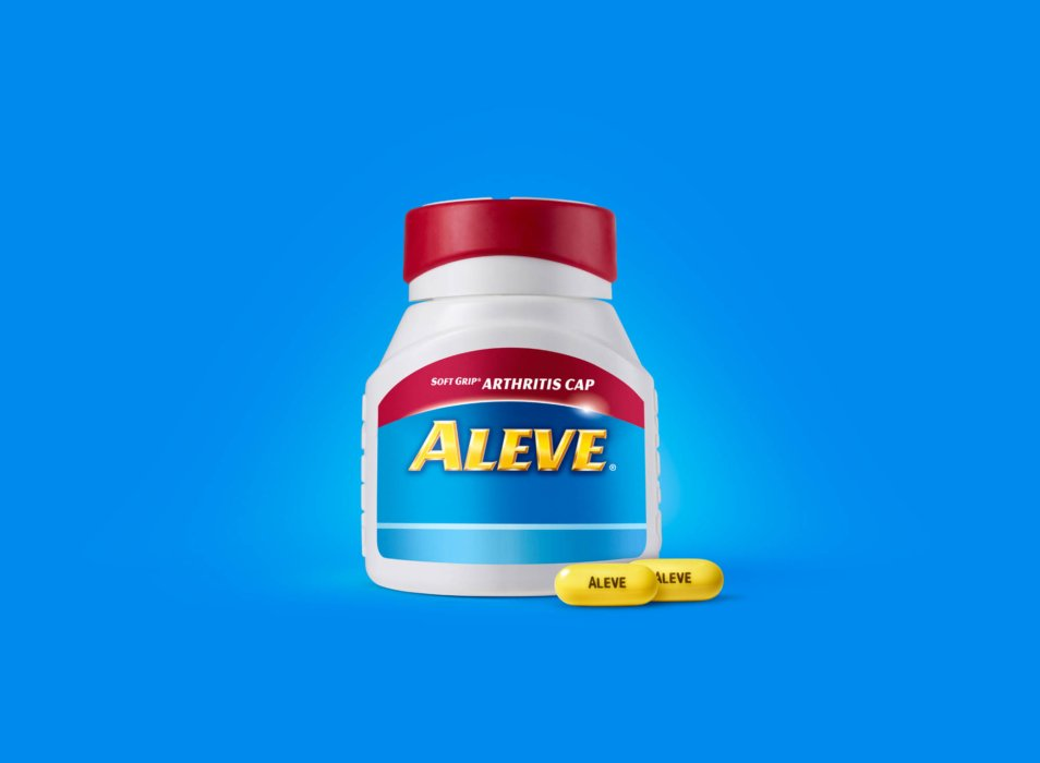 Aleve arthritis cap product photography