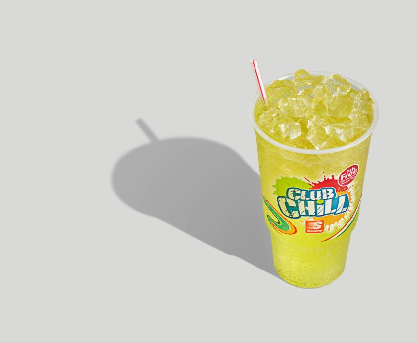 A fountain drink with yellow color - speedway - soda - pop - modern