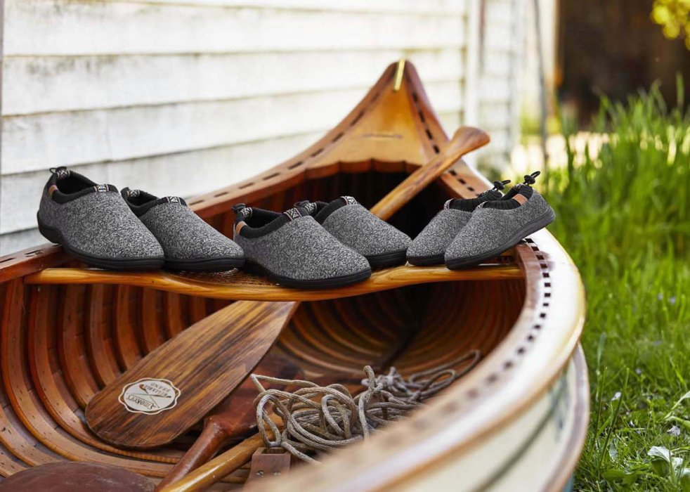 A set of shoes on a boat - apparel photography