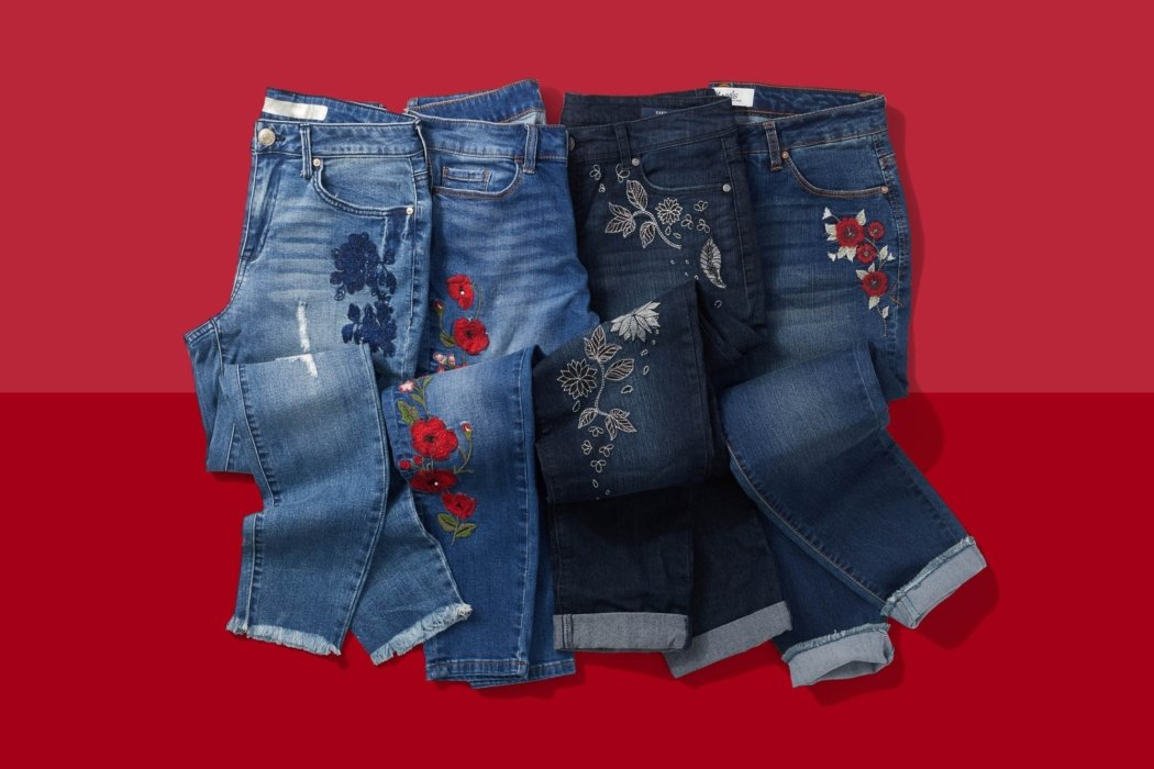 A set of jeans for a blog post - product photography