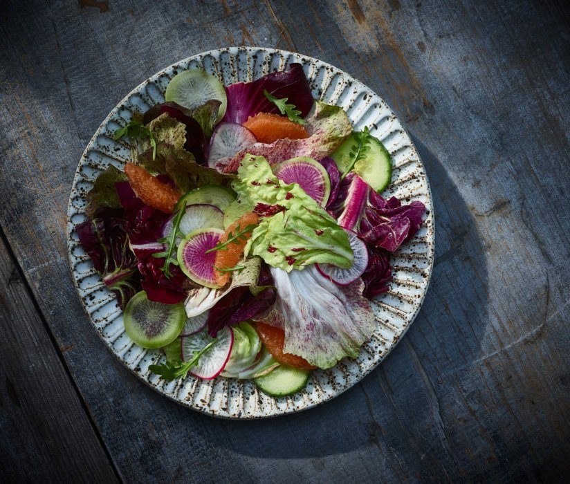 Mexico inspired editorial food photography - raw foods and veggies