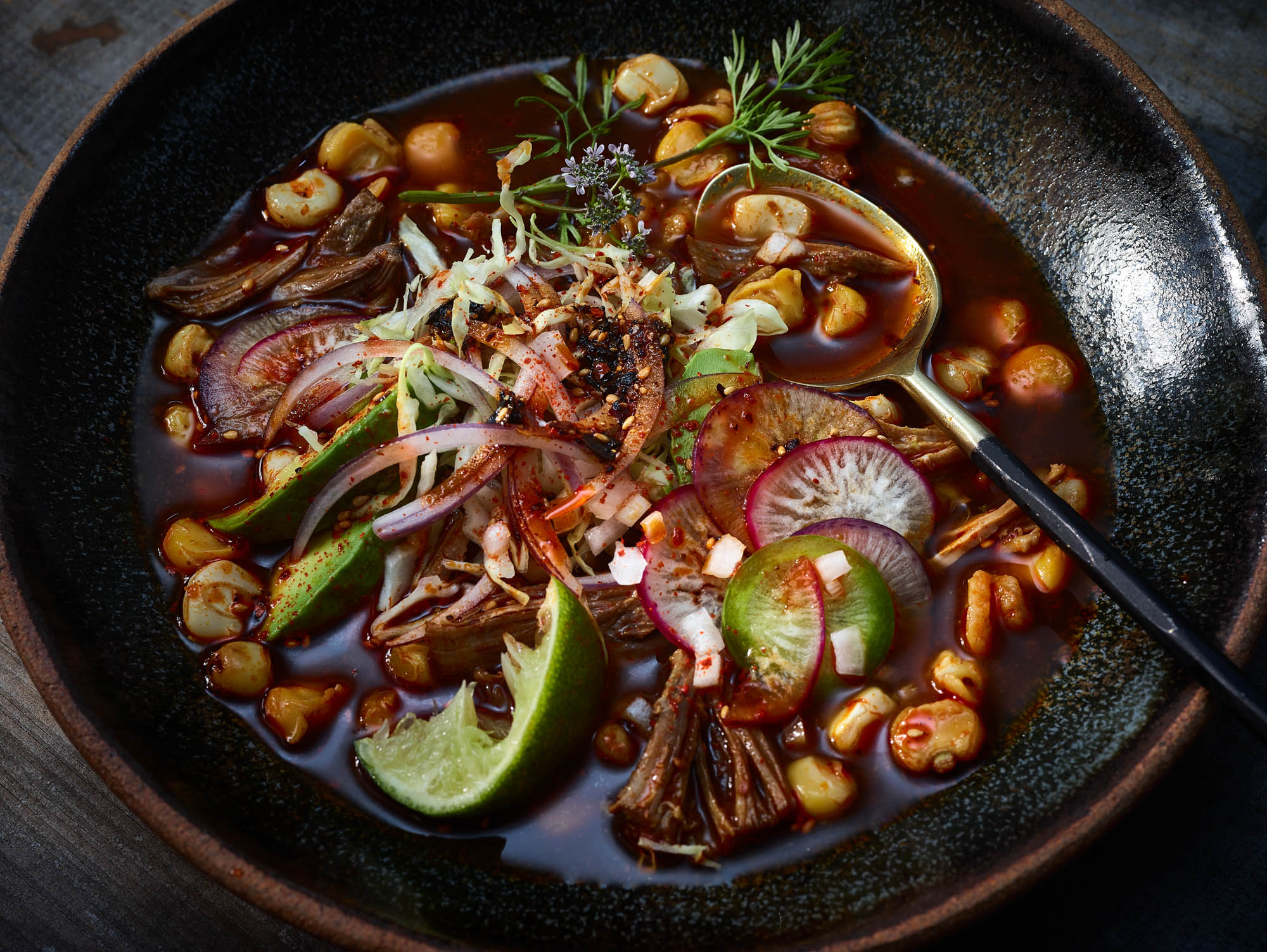Mexico inspired editorial food photography - close up of food