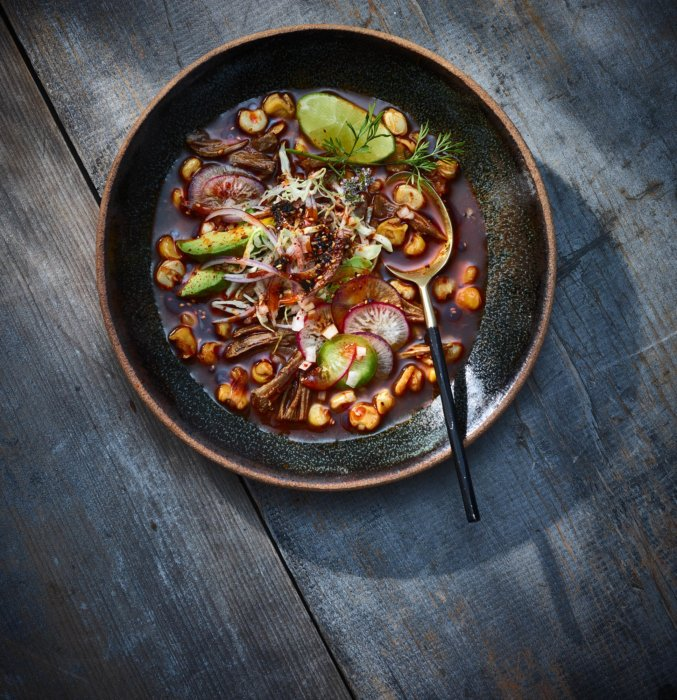 Mexico inspired editorial food photography - food on a nice plate
